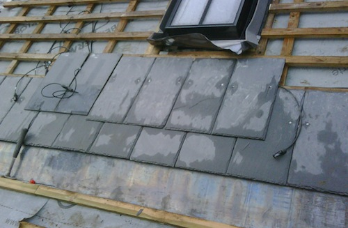 solar photovoltaic slate tiles from Solar Slate
